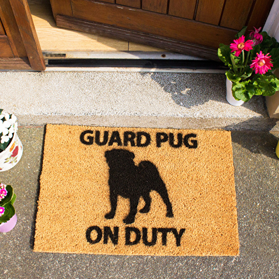 Pug And Chihuahua Design Doormat