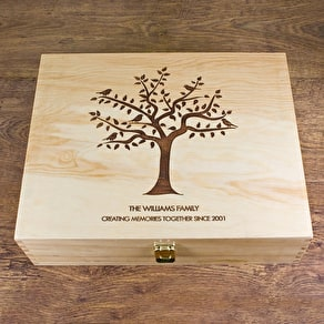 'Let's Grow Old Together' Personalised Wooden Box