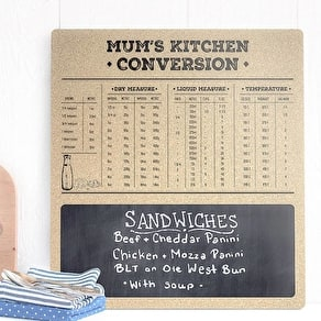 Kitchen Conversions Cork Board