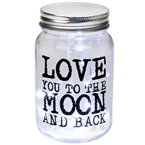 Light Up LED Jar With Wording