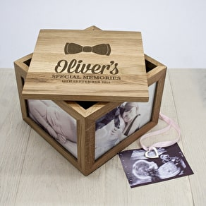 Baby's Special Memories Oak Photo Box