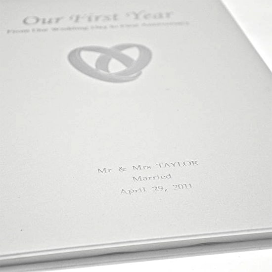 Our First Year Personalised Wedding Book