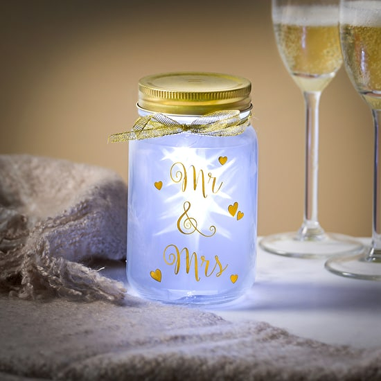 Wedding Light up LED jars