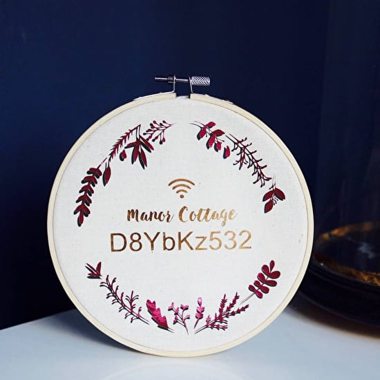 Personalised Wifi Code Hoop