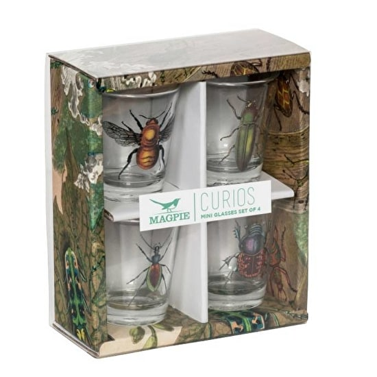 Insect Shot Glass Set of Four