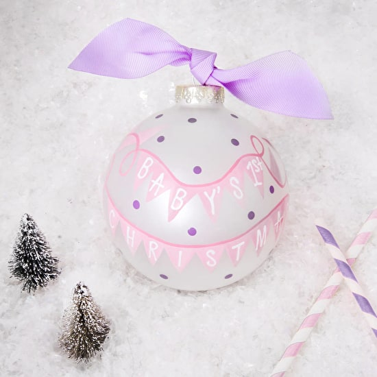 Babies First Christmas Gift Boxed Bauble
