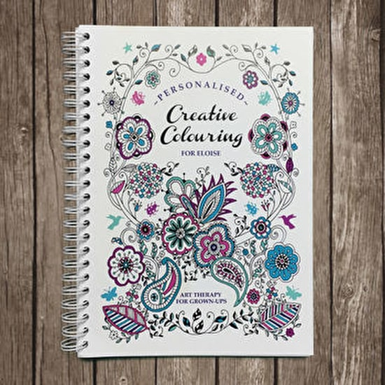 Personalised Adult Travel Colouring Book