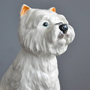 Retro Style Ceramic Westie Money Box