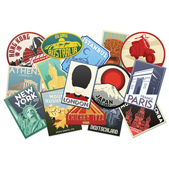 vintage looking Luggage Labels