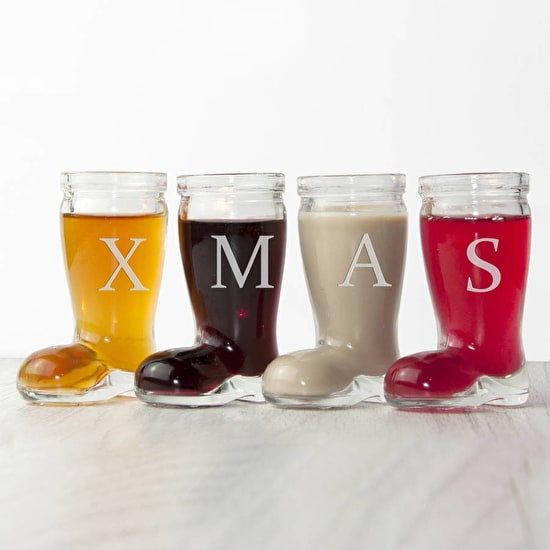 Personalised Santa Boot Glass