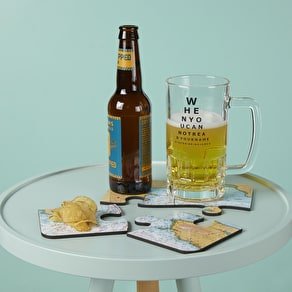 Face Beer Mat Coasters