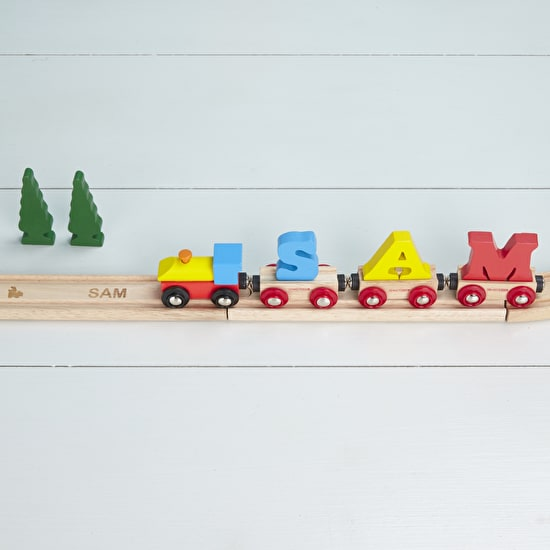 A Pack Of Personalised Train Track