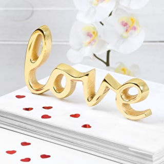 Gold Love Decorative Word