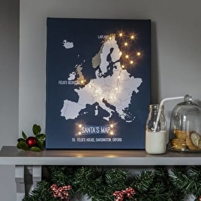 Personalised Santa's Map Canvas