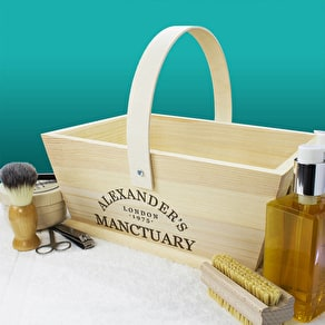 Personalised 'Manctuary' Storage Trug