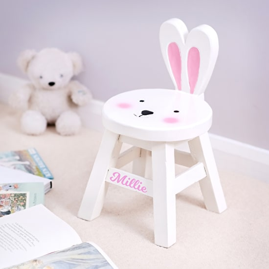 Personalised Childs Rabbit Stool