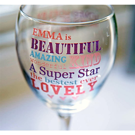 Personalised 'SHE IS' Wine Glass & Chocolate