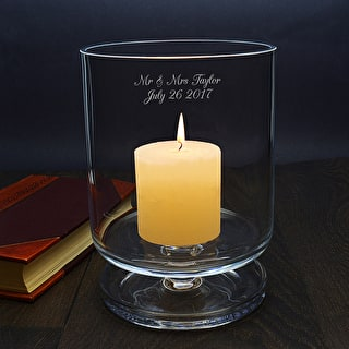 LSA Personalised Glass Storm Lantern