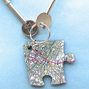 Four Personalised Jigsaw Shaped Keyrings