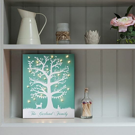 Family Tree Illuminated Canvas