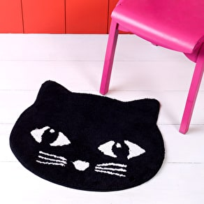 Cute Soft Black Cat Rug