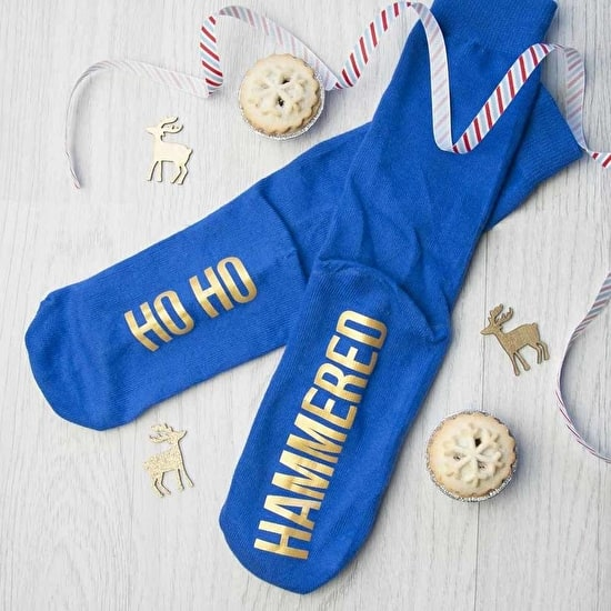 Personalised HO HO Christmas Socks