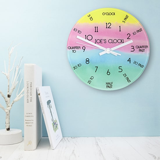 Personalised I Can tell the time clock with books