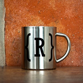 Monogram Silver Outdoor Mug