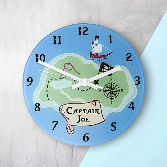 Personalised Pirate Clock on a Wall